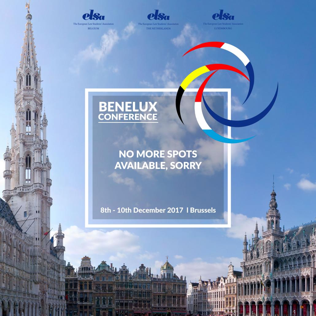 Benelux spots gone